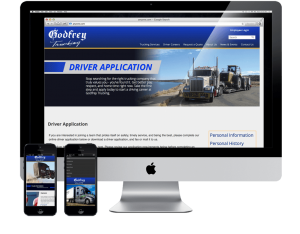 trucking websites for different devices