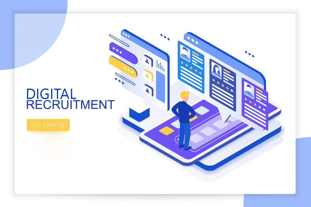 Digital recruitment campaign graphic