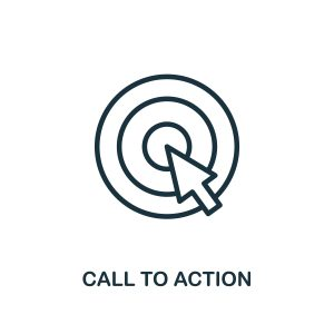 Call to action symbol