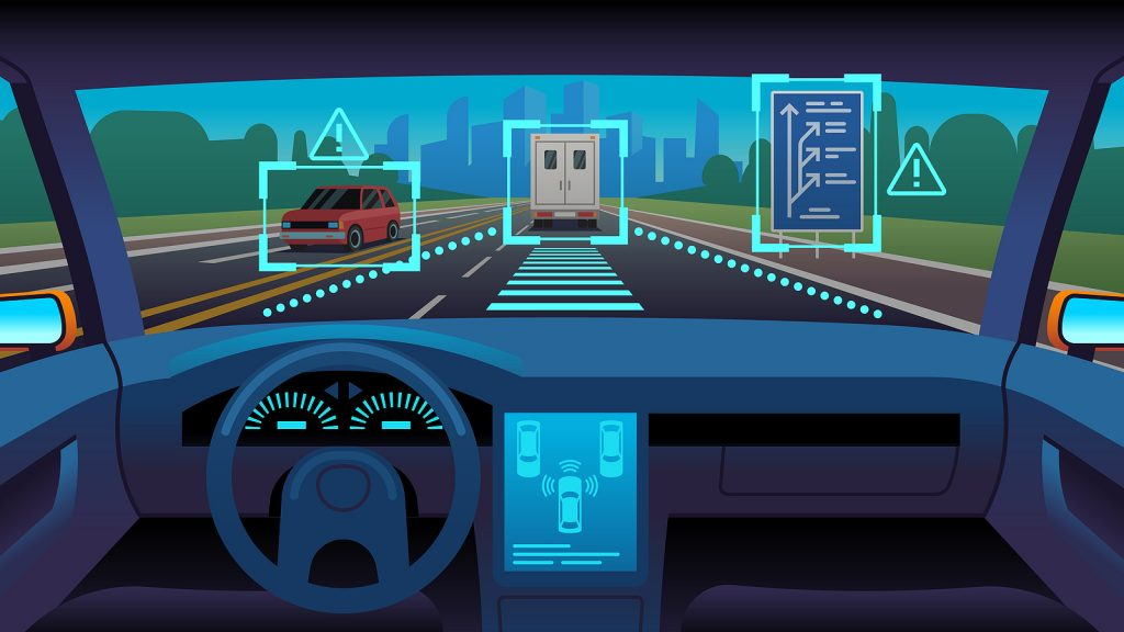 ADAS features make it possible for trucks to react to hazards on its own.