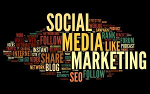 Word collage to social media marketing for trucking companies