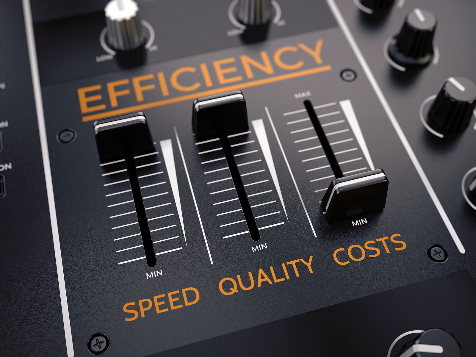High efficiency and minimum costs