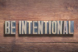 be intentional phrase combined on vintage varnished wooden surface