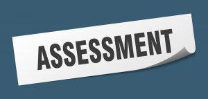 assessment sticker. assessment square sign. assessment. peeler